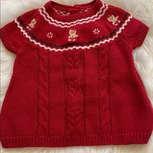 Baby 0-3 month Gymboree red gingerbread sweater
